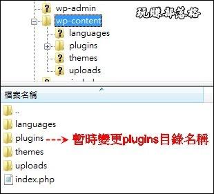 WordPress移除plugins01