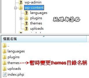 WordPress移除themes01