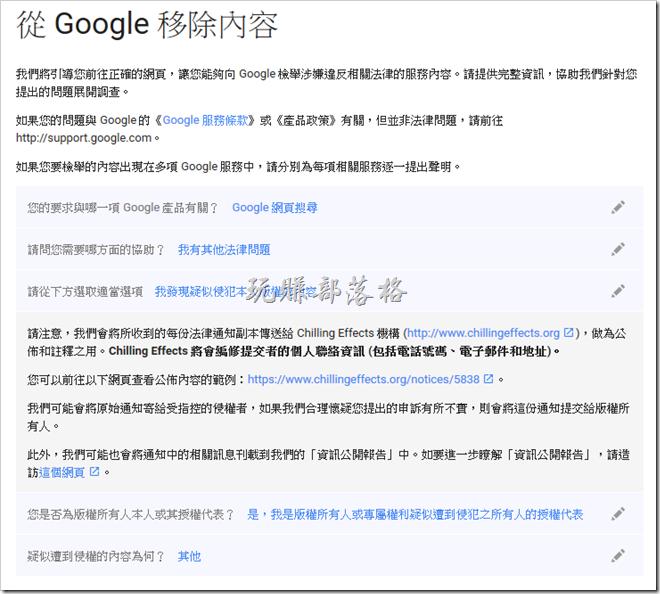 Google檢舉102