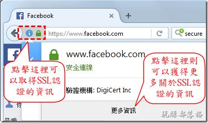 點擊這裡可以取得SSL認證的資訊